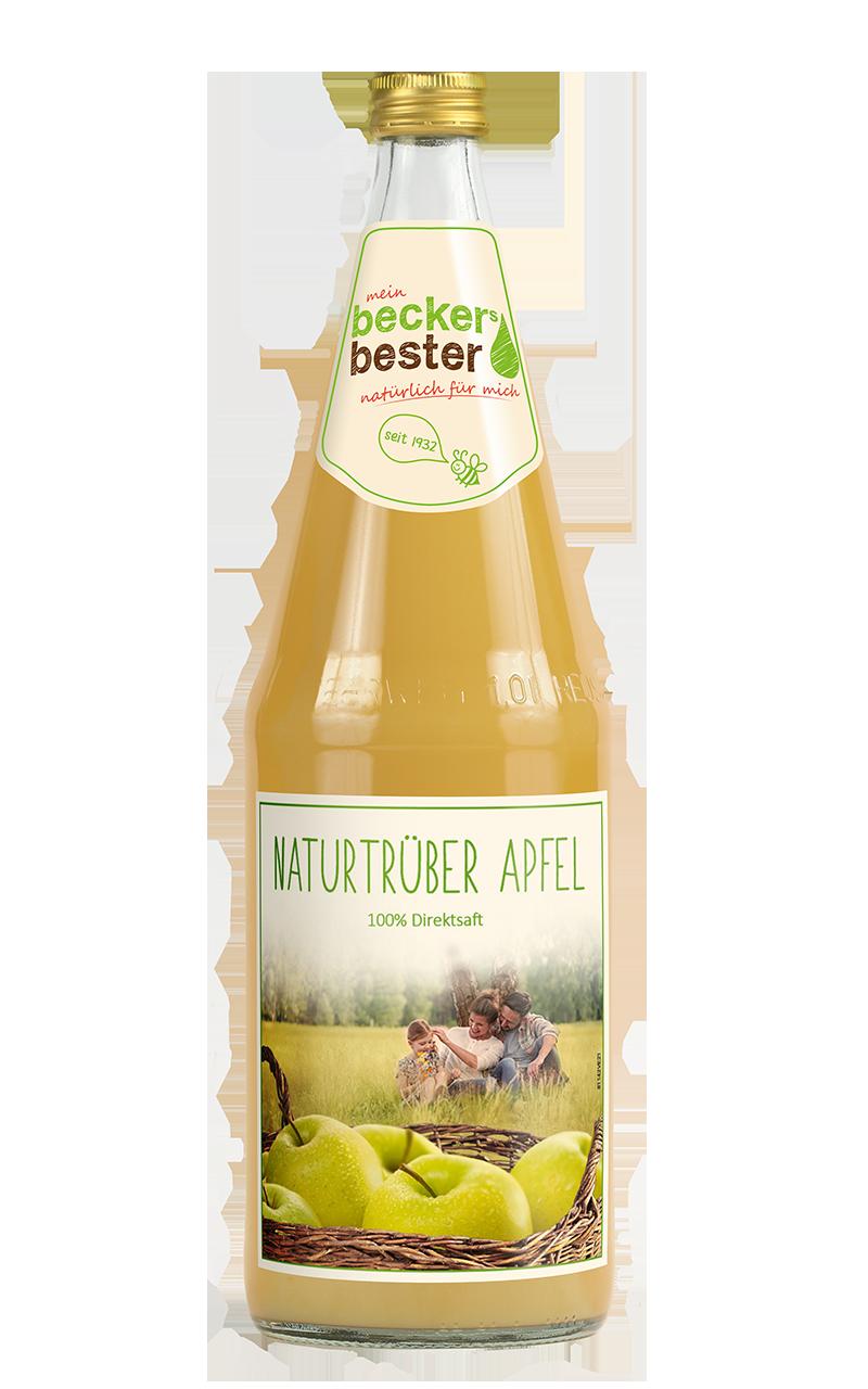 Beckers Apfel trüb 6x1,0l Mehrweg Glas