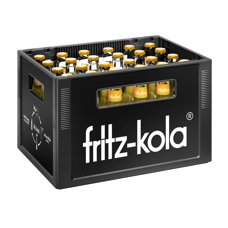 Fritz Limo Zitrone 24x0,33l Mehrweg Glas