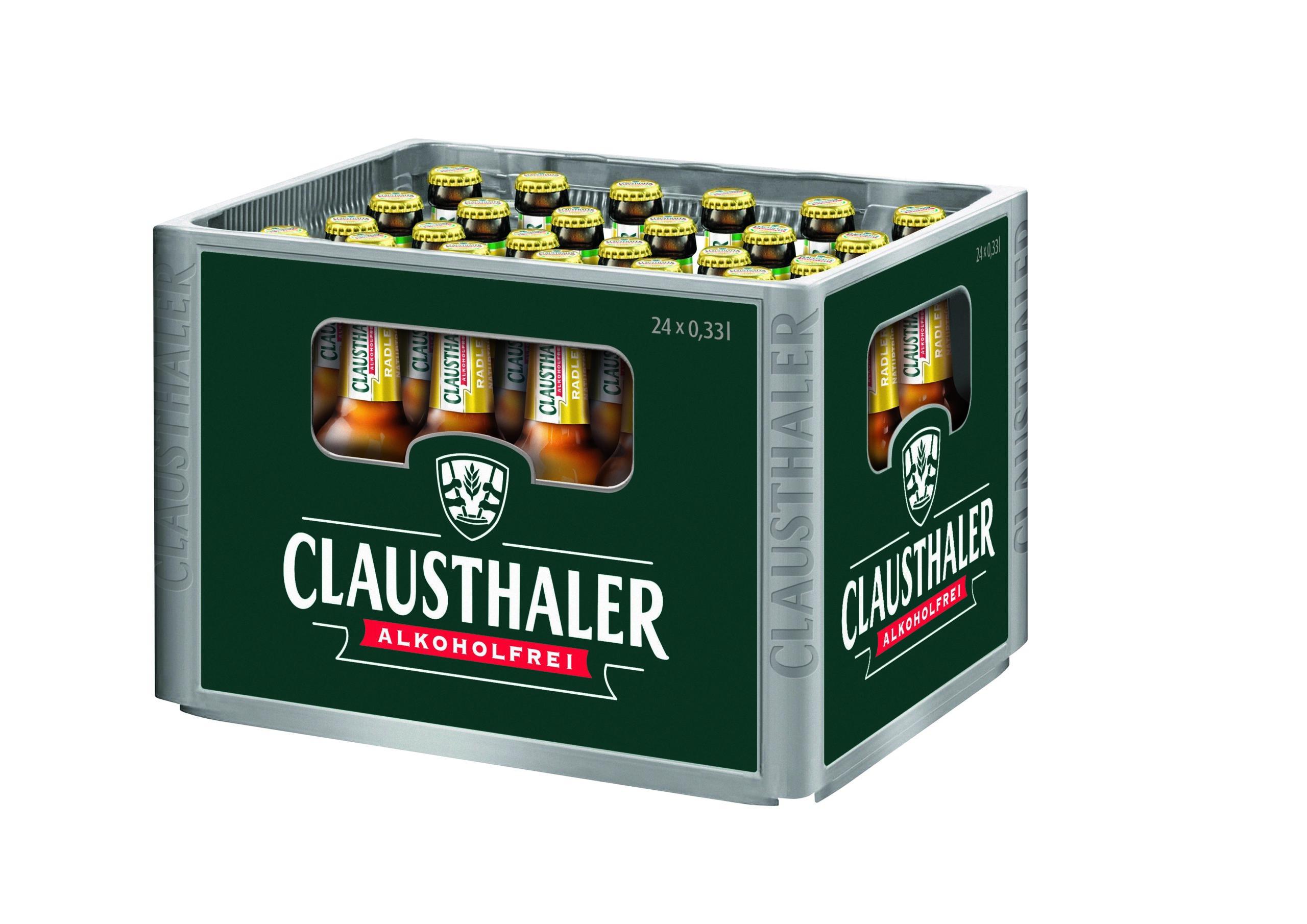 Clausthaler Radler Naturtrüb 24x0,33l Mehrweg Glas