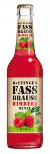 Oettinger Fassbrause Himbeer Minze 24x0,33l Mehrweg Glas