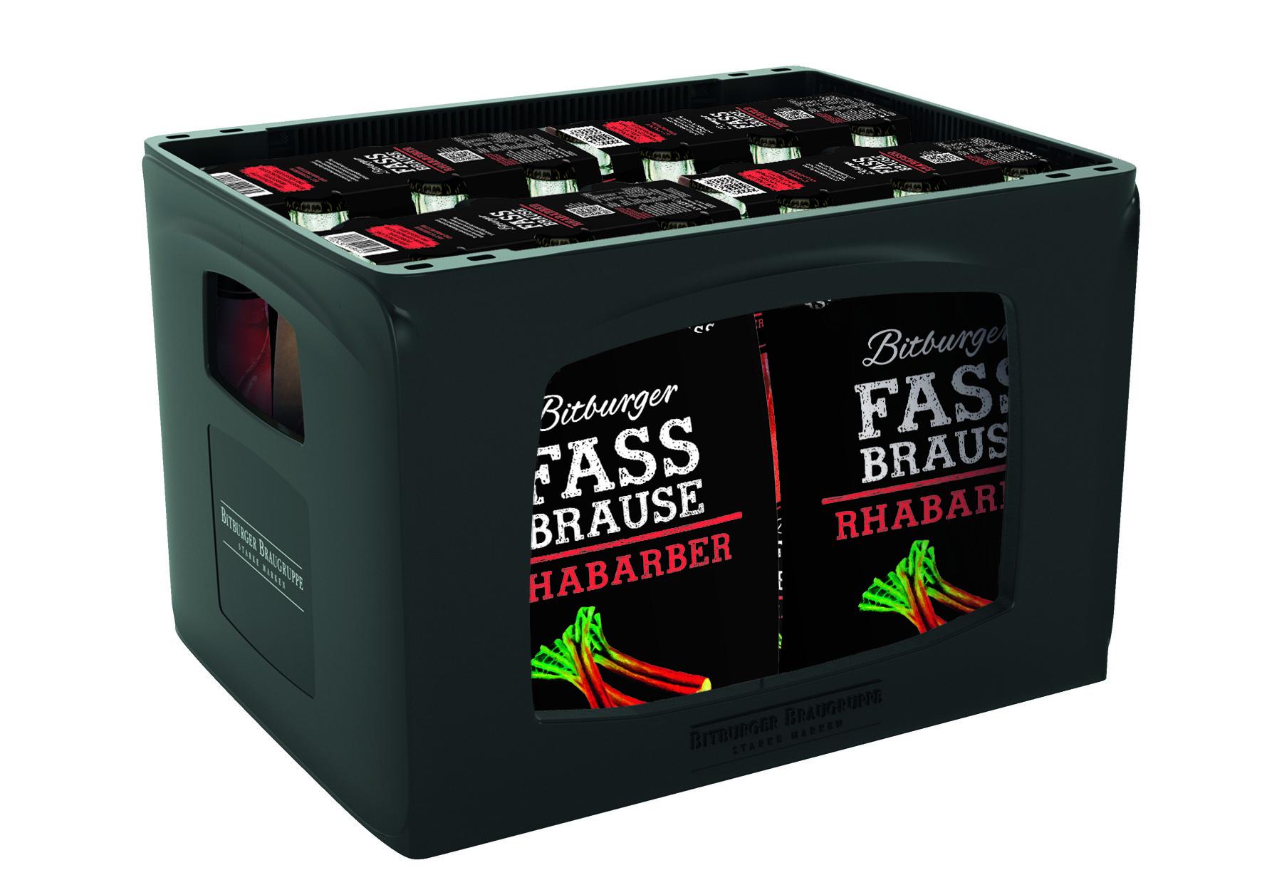 Bitburger Fassbrause Rhabarber 24x0,33l Mehrweg Glas