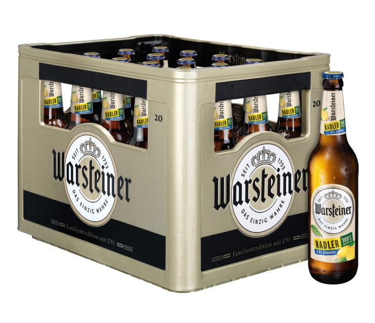 Warsteiner Radler Zitrone Alkoholfrei 20x0,5l Mehrweg Glas