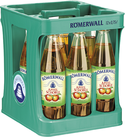Römerwall Apfelschorle 12x0,7l Mehrweg Glas