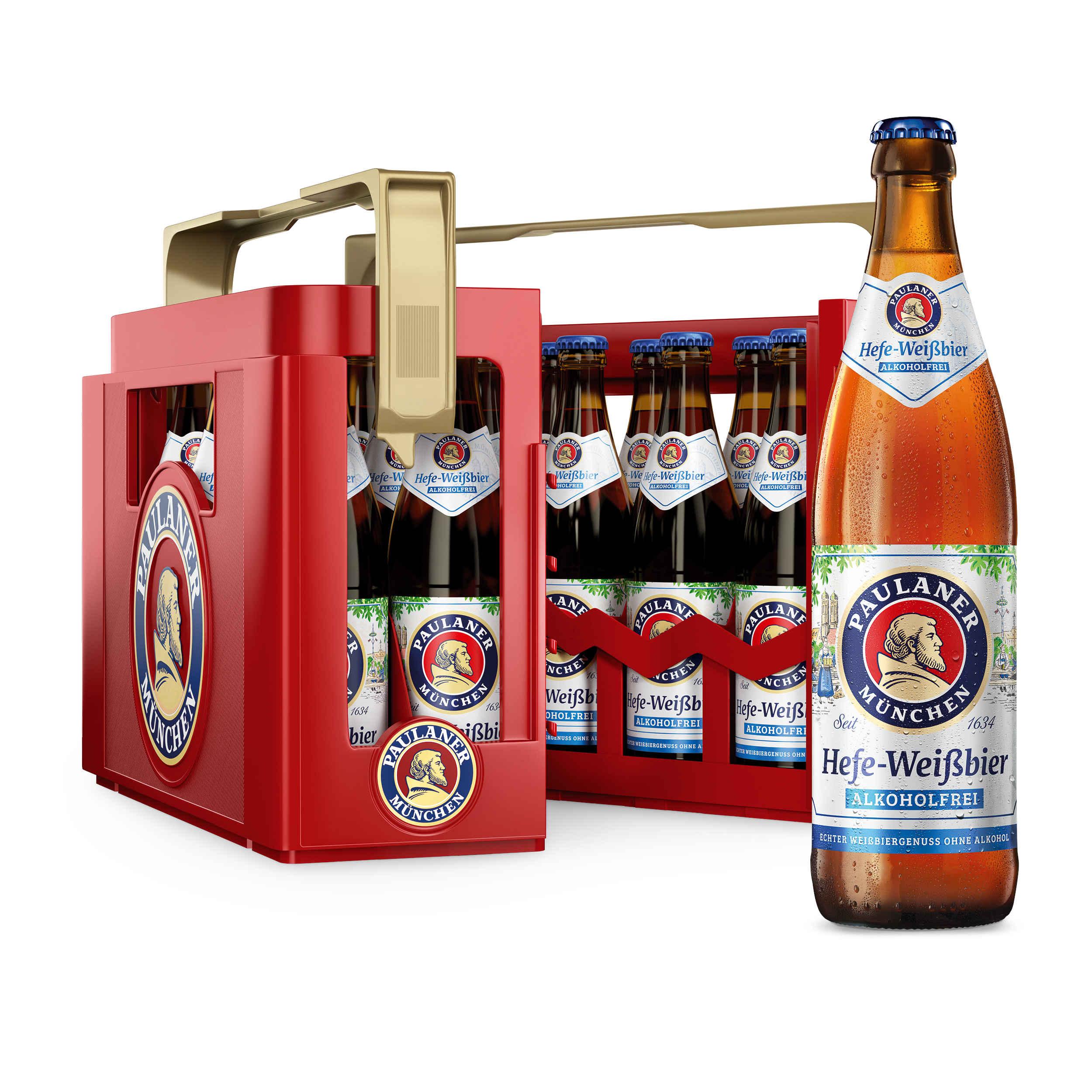 Paulaner Hefe Weißbier Alkoholfrei 20x0,5l Mehrweg Glas