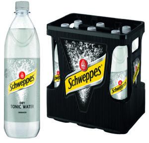 Schweppes Dry Tonic Water 6x1,0l Mehrweg PET