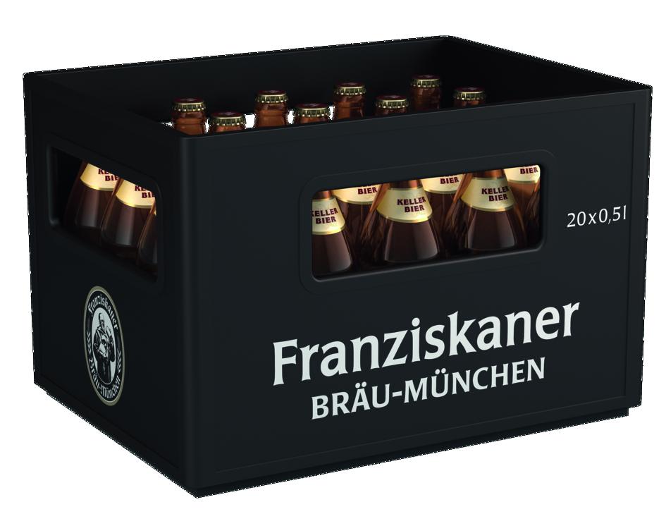 Franziskaner Kellerbier 20x0,5l Mehrweg Glas