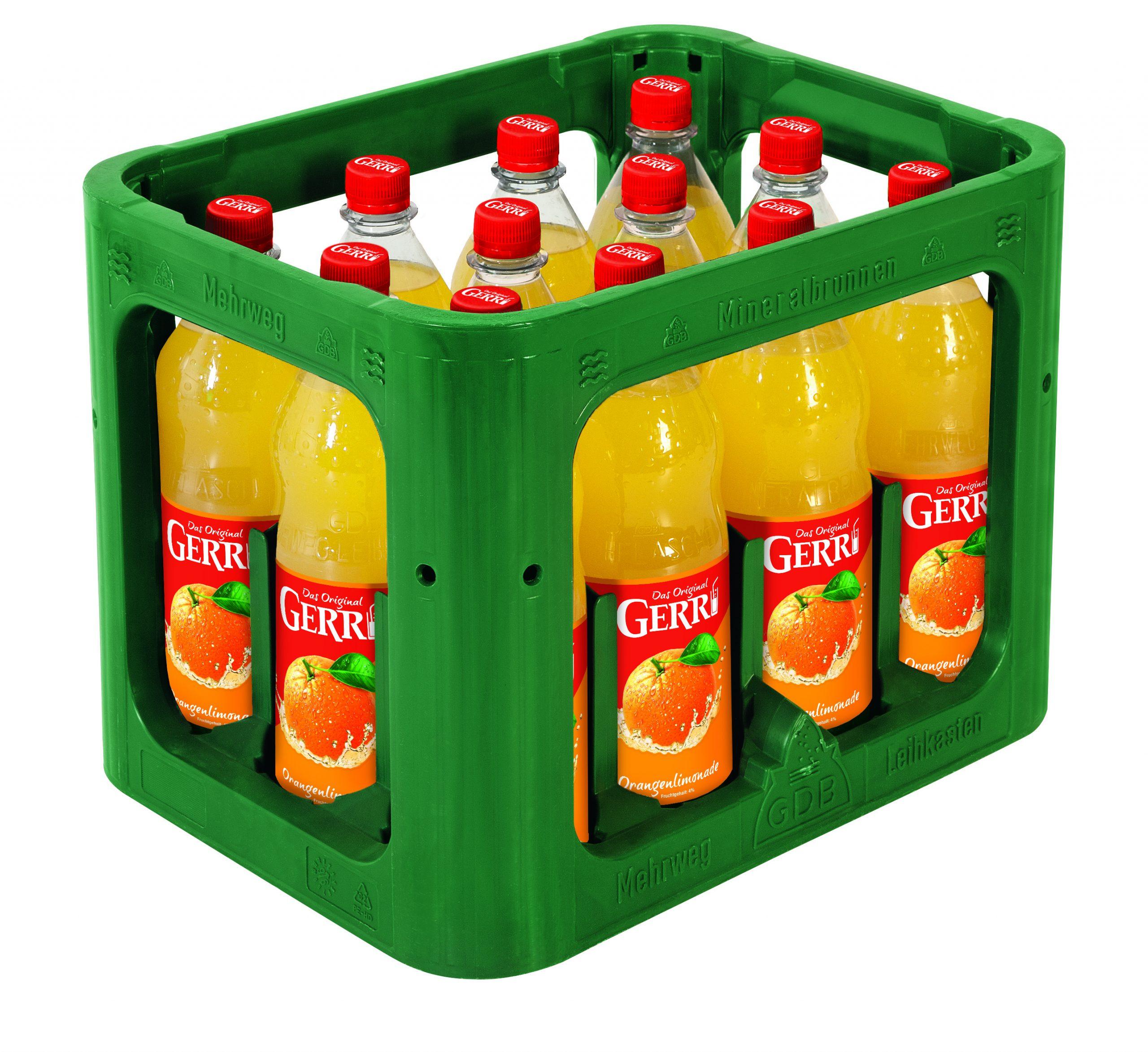 Gerri Limonade Orange 12x1,0l Mehrweg PET