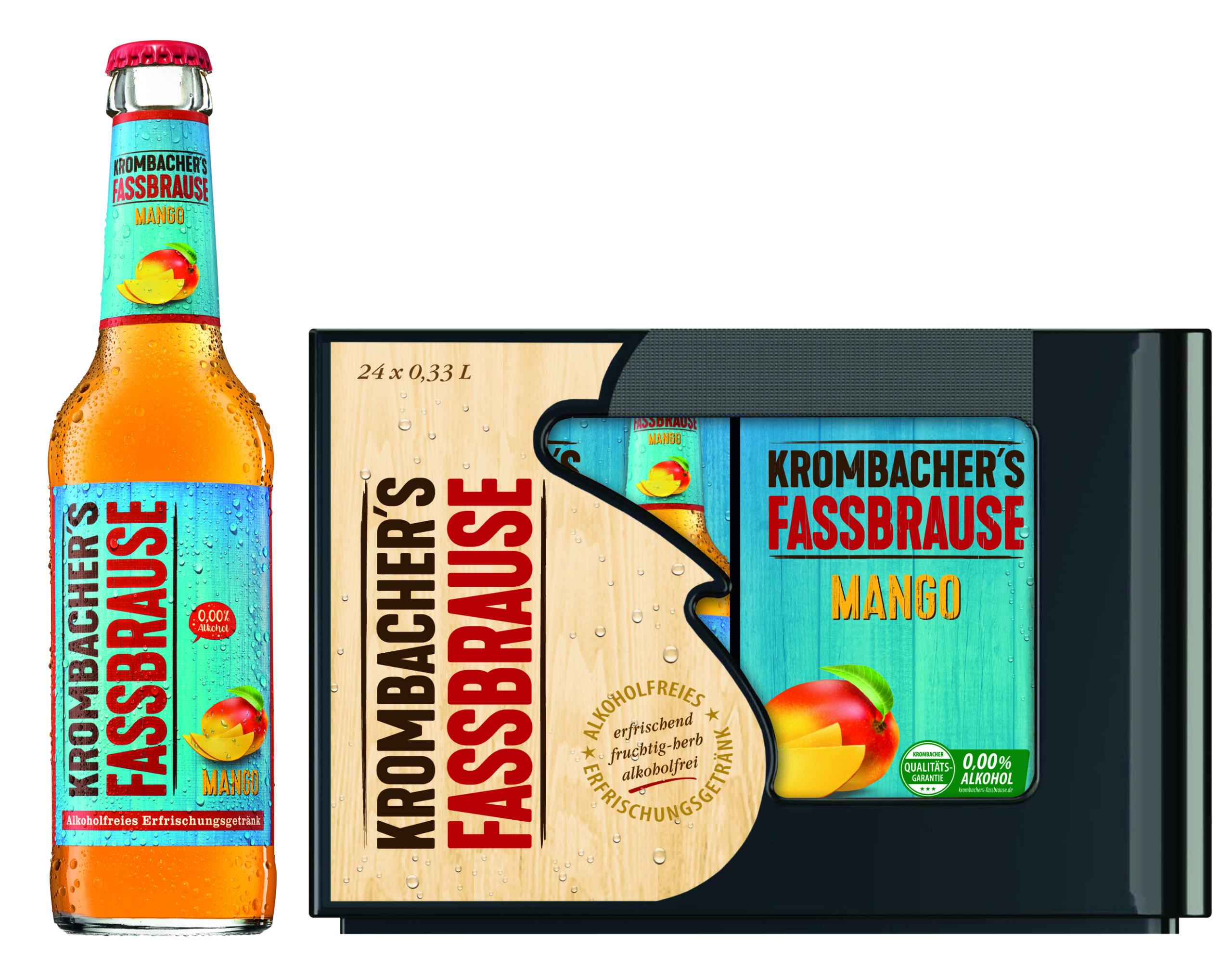 Krombacher Fassbrause Mango 20x0,33l Mehrweg Glas