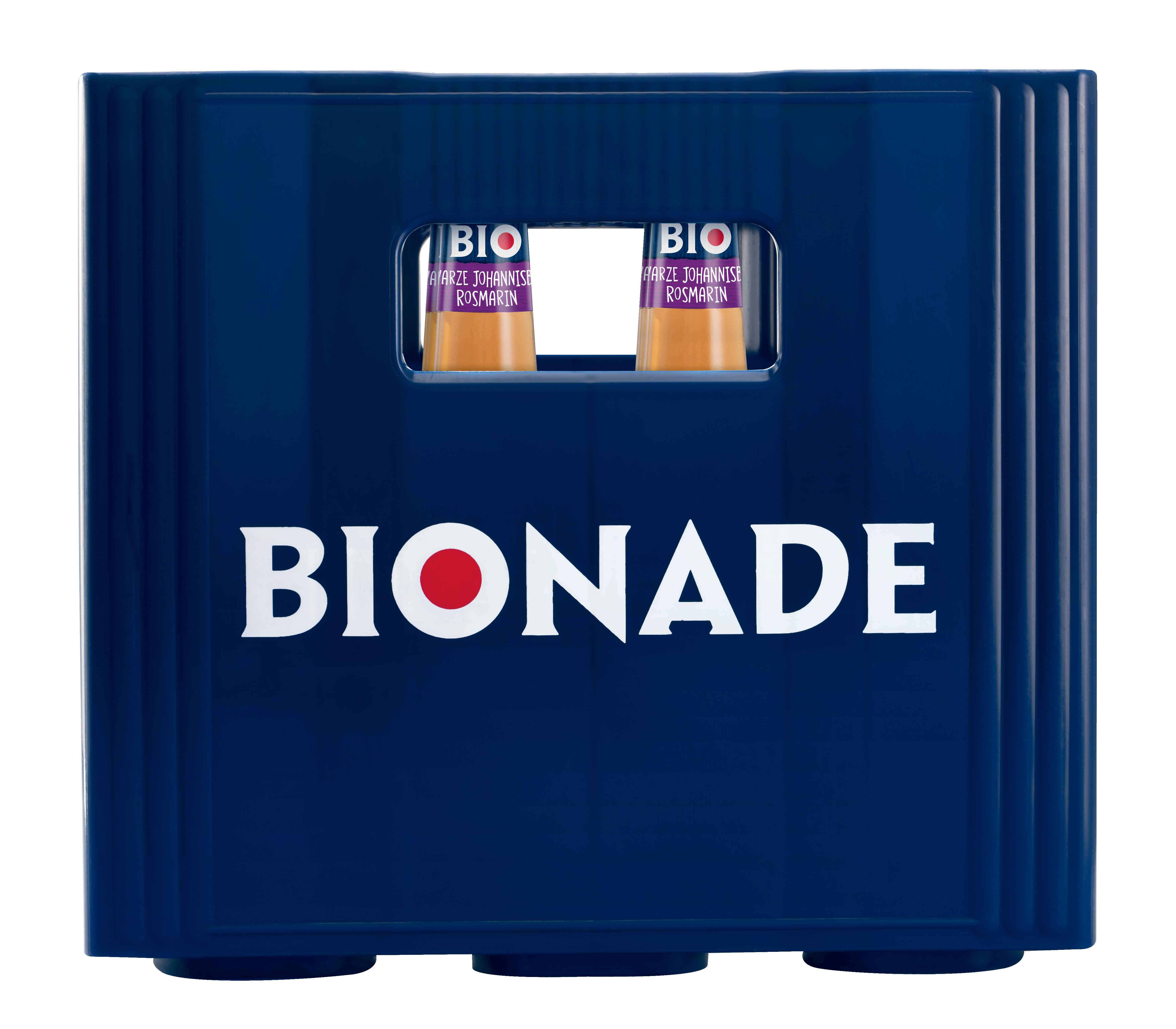 Bionade Schwarze Johannisbeere-Rosmarin 12x0,33l Mehrweg Glas