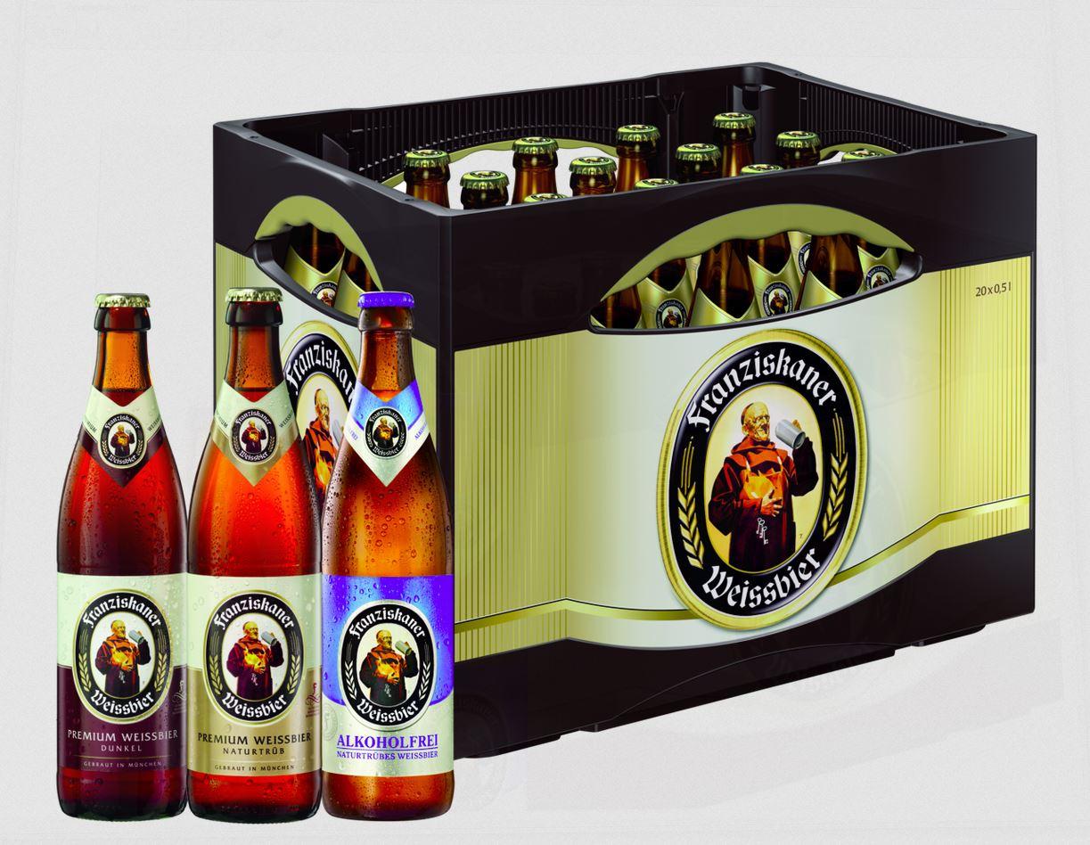 Franziskaner Alkoholfrei 20x0,5l Mehrweg Glas