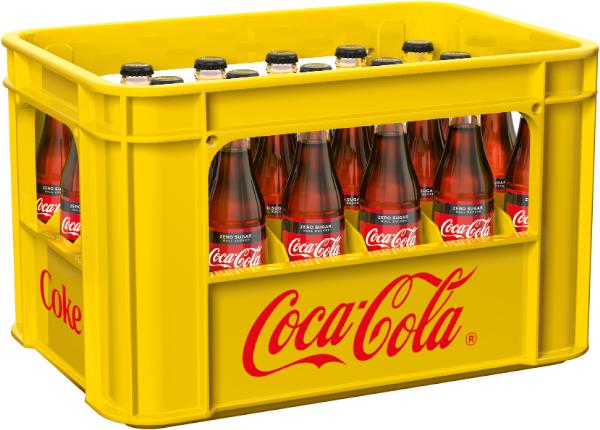 Coca Cola Zero 24x0,33l Mehrweg Glas
