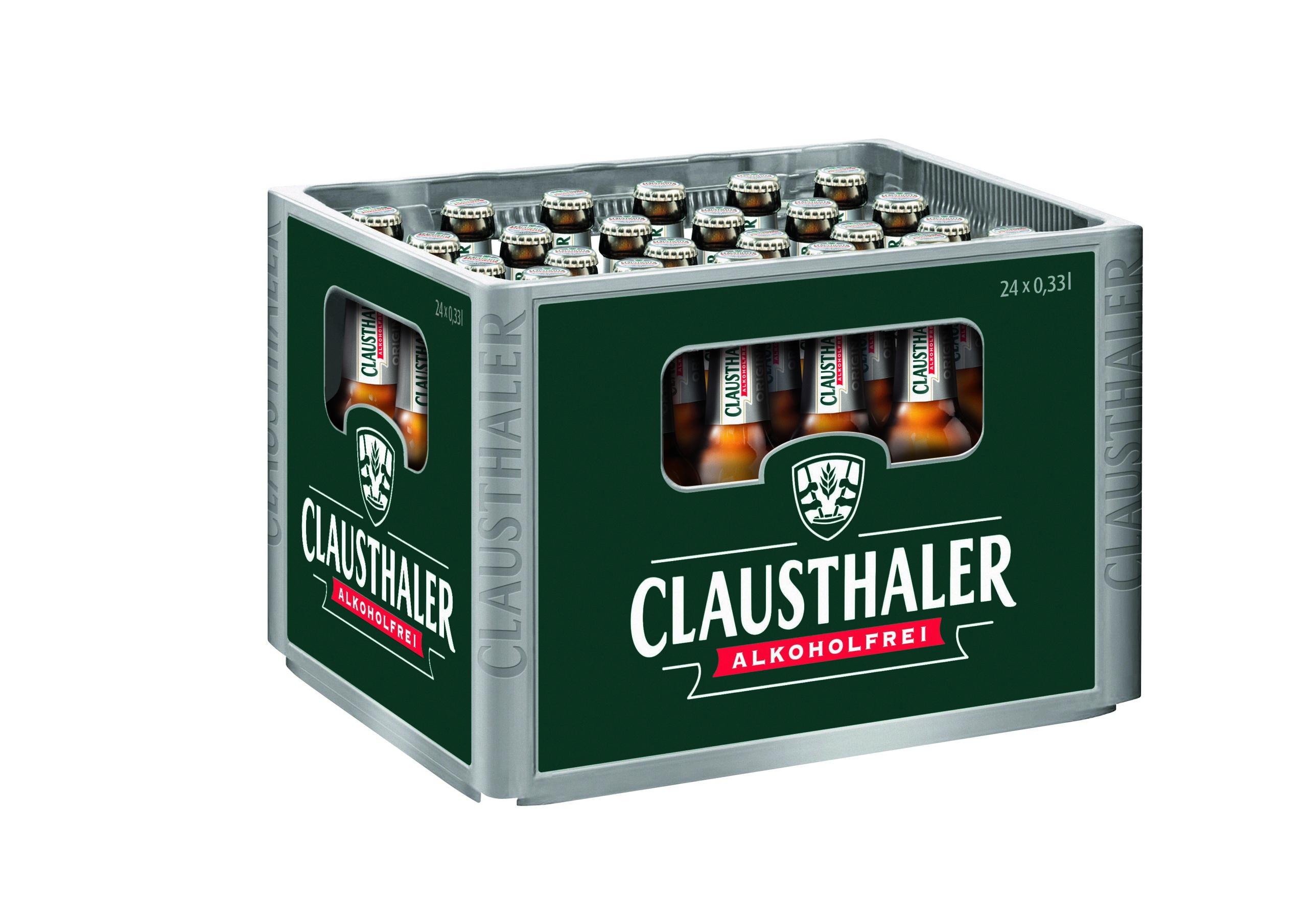 Clausthaler Original 24x0,33l Mehrweg Glas