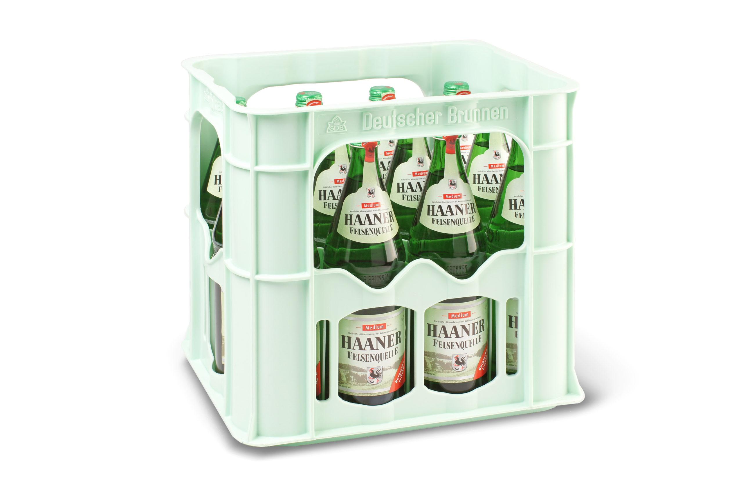 Haaner Felsenquelle Medium 12x0,75l Glas Kiste Mehrweg