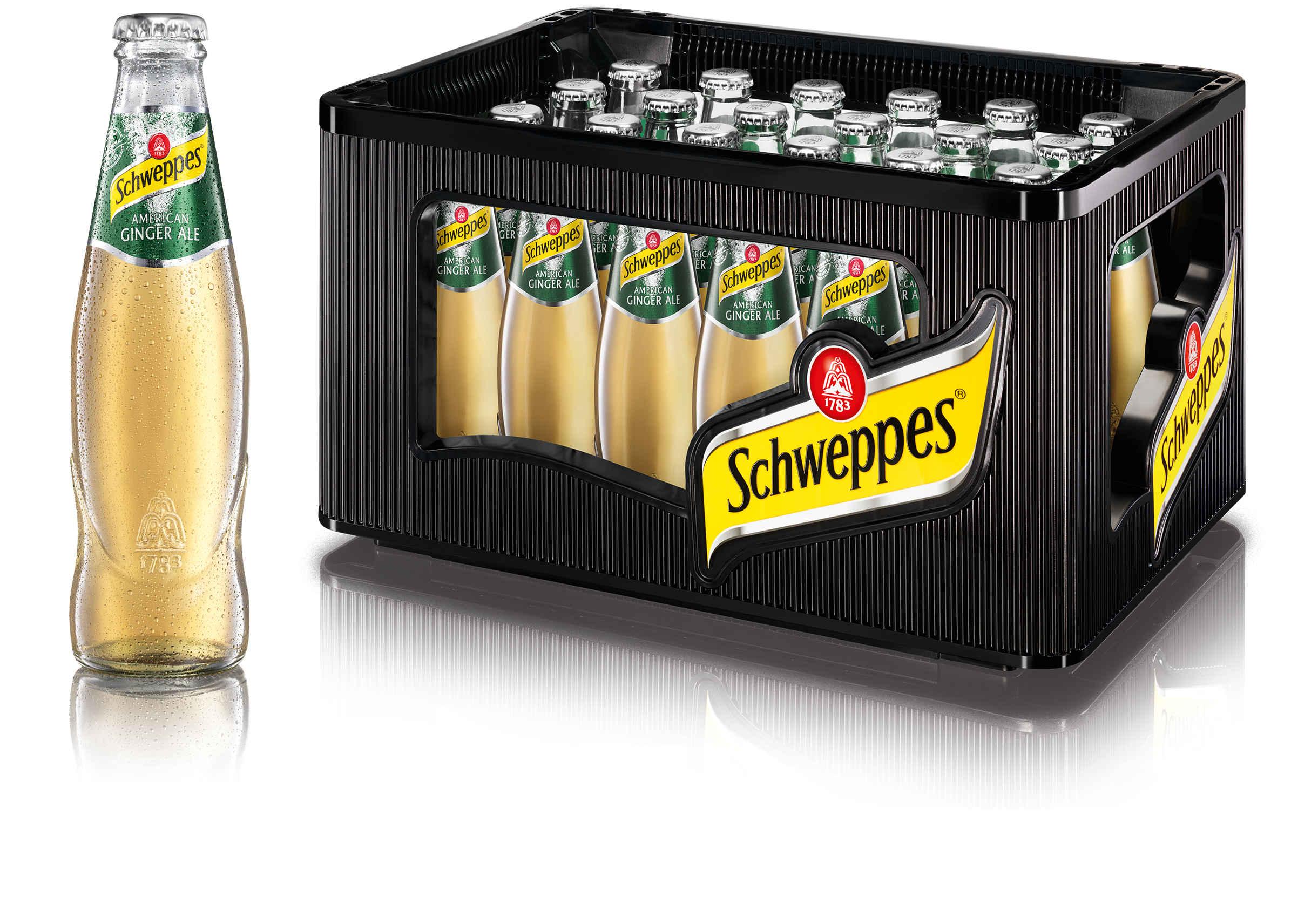 Schweppes American Ginger Ale 24x0,2l Mehrweg Glas